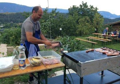 Grillen mit Hannes & Irmi im Garten und seine Hausgäste
